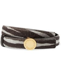 Stella McCartney - Printed Faux Calf Hair Belt - Lyst