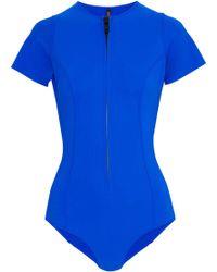 Lisa Marie Fernandez - Farrah Zip-detailed Bonded Swimsuit - Lyst