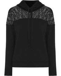 Bailey 44 - Nightmare At Monastery Lace-paneled Stretch-modal Fleece Hooded Top - Lyst