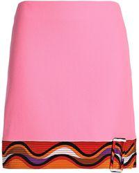 Emilio Pucci - Panelled Wool-blend Crepe Mini Skirt - Lyst