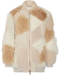 Chloé - Oversized Leather-trimmed Shearling And Alpaca Coat - Lyst