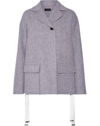 JOSEPH - Caplan Brushed Wool And Cashmere-blend Coat - Lyst