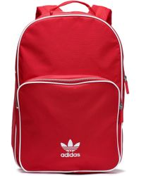 5f9bc46629 adidas Originals - Woman Woven Backpack Red - Lyst