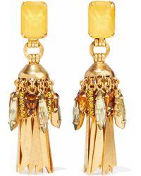 Elizabeth Cole - Gold-plated Crystal Earrings - Lyst
