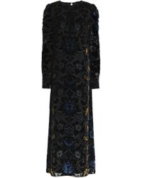 Anna Sui - Devoré-velvet Maxi Dress - Lyst