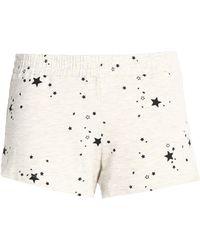 Monrow - Printed Jersey Shorts Light Gray - Lyst