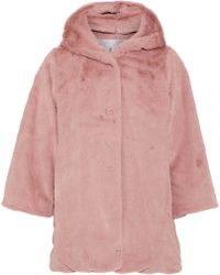 Iris & Ink - Pamela Faux Fur Hooded Jacket - Lyst