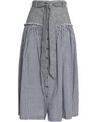 Nicholas - Belted Gingham Cotton-poplin Midi Skirt - Lyst