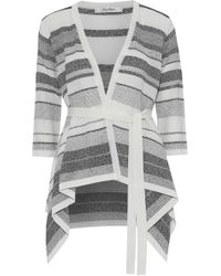 Max Mara - Striped Knitted Cardigan - Lyst