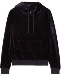 Vetements - Woman Crystal-embellished Velour Hooded Top Black Size S - Lyst
