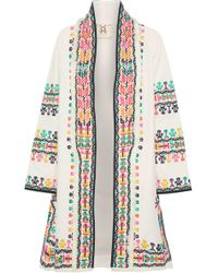 Figue - Fringe-trimmed Embroidered Cotton Jacket - Lyst