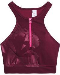 adidas By Stella McCartney - Printed Stretch Sports Bra - Lyst