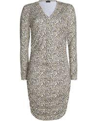 Just Cavalli - Leopard-print Stretch-knit Dress - Lyst