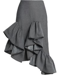 Marques'Almeida - Ruffled Asymmetric Cotton-blend Twill Skirt - Lyst