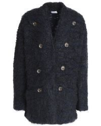 Brunello Cucinelli - Button-embellished Wool, Cashmere And Silk-blend Bouclé-knit Jacket - Lyst