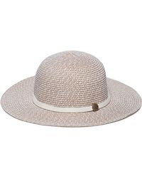 Melissa Odabash - Colette Leather-trimmed Straw Sunhat - Lyst