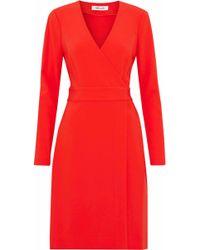 Diane von Furstenberg - Crepe Wrap Dress - Lyst