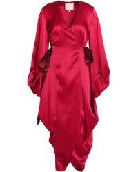 ROKSANDA - Wrap-effect Crinkled Silk-satin Dress - Lyst