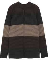 Rick Owens - Striped Chunky-knit Wool Jumper - Lyst