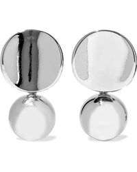 Kenneth Jay Lane - Woman Silver-tone Earrings Silver - Lyst
