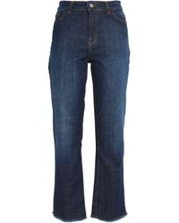 Maje - Frayed High-rise Straight-leg Jeans - Lyst