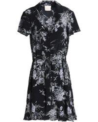 Cinq À Sept - Printed Silk Shirt Dress - Lyst