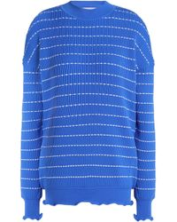 Victoria, Victoria Beckham - Striped Ribbed-knit Top - Lyst