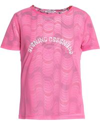 Opening Ceremony - Mesh-layered Printed Stretch-jersey T-shirt - Lyst
