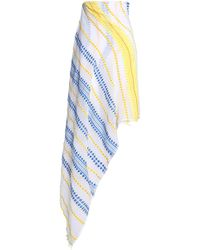 lemlem - Embroidered Striped Cotton-blend Gauze Pareo - Lyst