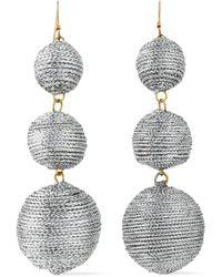 Kenneth Jay Lane - Gold-tone Cord Earrings - Lyst