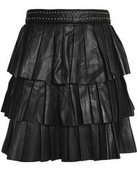 Claudie Pierlot - Tiered Leather Mini Skirt - Lyst