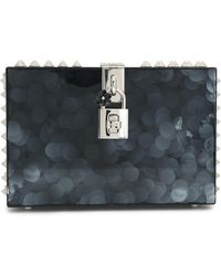 Dolce & Gabbana - Dolce Spiked Glittered Acrylic Box Clutch - Lyst