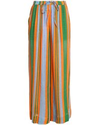 Diane von Furstenberg - Striped Linen-blend Trousers - Lyst