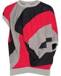 Marni - Draped Striped Cotton-blend Jersey Top - Lyst