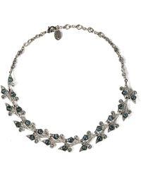 Ben-Amun - Silver-tone Crystal Necklace - Lyst