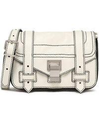 Proenza Schouler - Ps1 Cracked-leather Shoulder Bag - Lyst