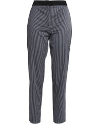 Claudie Pierlot - Striped Twill Tapered Pants - Lyst
