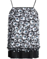 Mother Of Pearl - Fringed Embellished Woven Top Midnight Blue - Lyst