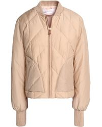 See By Chloé - Quilted Cotton-blend Shell Down Bomber Jacket - Lyst