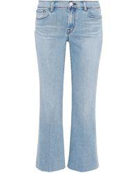 J Brand - Selena Cropped Mid-rise Straight-leg Jeans Light Denim - Lyst