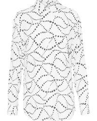 Equipment - Signature Printed Washed-silk Shirt - Lyst