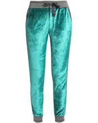 Roberto Cavalli - Lamé-trimmed Chenille Track Trousers - Lyst