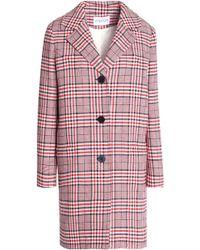 Claudie Pierlot - Checked Cotton-blend Coat - Lyst