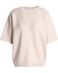 Brunello Cucinelli - Bead-embellished Ribbed Cashmere Sweater - Lyst
