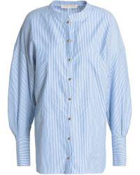 Vanessa Bruno - Striped Cotton Oxford Shirt - Lyst