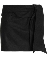 Chalayan - Draped Brushed-wool Mini Skirt - Lyst
