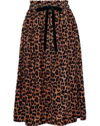 Antik Batik - Gart Velvet Midi Skirt - Lyst