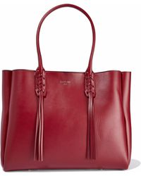 Lanvin - Small Shopper Fringe-trimmed Leather Tote - Lyst