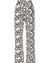 JW Anderson - High-rise Printed Slim-leg Jeans - Lyst