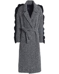 Mother Of Pearl - Ruffle-trimmed Wool-blend Tweed Coat - Lyst